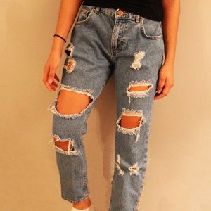 Forever 21 Ripped/Distressed Jeans